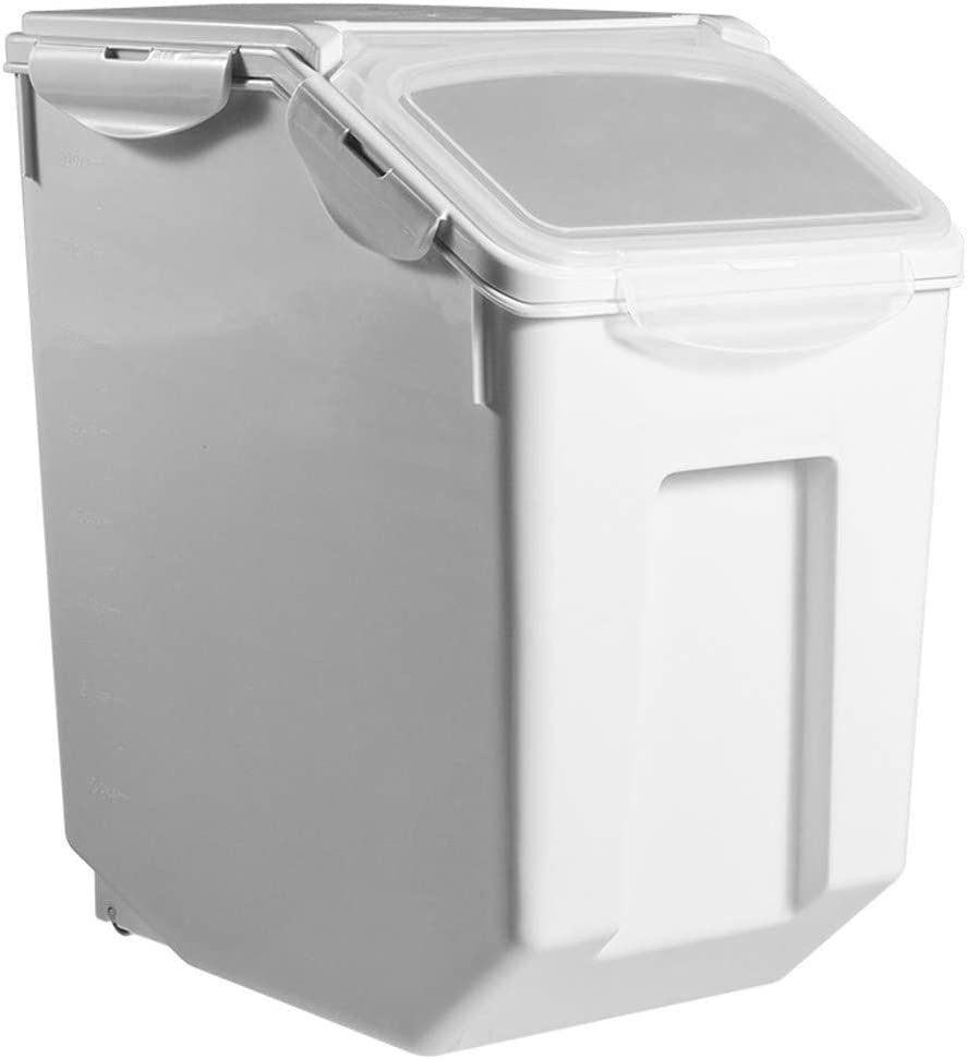 DERGH Rice Container Storage- 30LBS with Lid and Sealing Rings Cereal Dry Food Containers Moisture-Proof Rice Storage Container Dog Food Storage Container