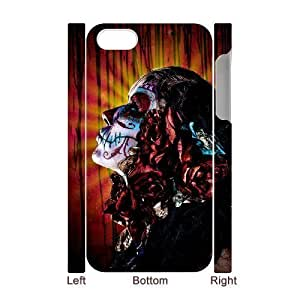 3D Bumper Plastic Case Of Artistic Skull customized case For Iphone 4/4s