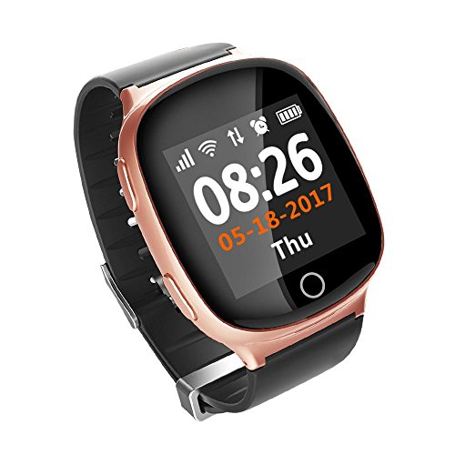 KOBWA Smart Watch GPS Smartwatch Phone GPS/Wifi Tracker Watch for Kids Parents Anti Lost SOS Call HR Monitor Pedometer Sleep Monitor Voice Chat Fall-down Alarm