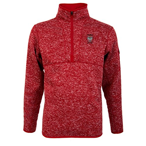 Antigua Pullover Fleece - Sports Outlet Express Men's Polish Polska Antigua Fortune 1/4 Zip Fleece Pullover Eagle Embroided Red