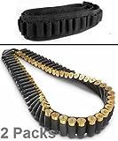 Pack of 2 Safety Solution 10, 12 & 20 Gauge GA Stealth Black 56 Round Shotgun Shotshell Ammo Shot Shell Shoulder Bandolier Bandoleer Carrier /56R2PC