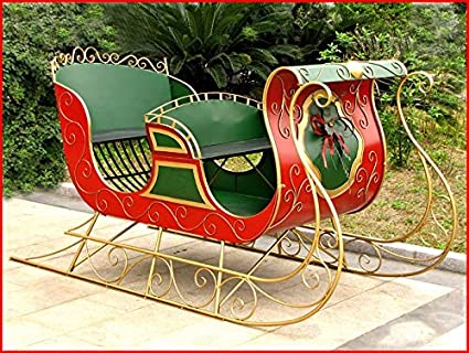 Outdoor Christmas Sleigh.Amazon Com Tisyourseason Life Size Christmas Outdoor Santa