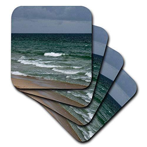 3dRose Susans Zoo Crew Photography - Stormy florida green ocean - set of 4 Ceramic Tile Coasters (cst_196208_3)