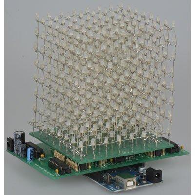 Blue 8x8x8 Led Cube Kit Pcb Version