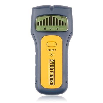 Erduo Profesional 3 en 1 Buscador de espárrago Detectores de Madera portátiles de Metal de tamaño portátil Voltaje de CA Live Wire Detect Escáner de Pared: ...