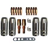 Verschleissteile Set MB25 Gasdüsen, Düsenstöcke, Stromdüsen MIG/MAG 0,8mm Stromdüse Düsenträger für MB 25, SB 25, TBI250, Tops 250, Ergoplus 25 Ergoplus 250 Brenner und viele andere