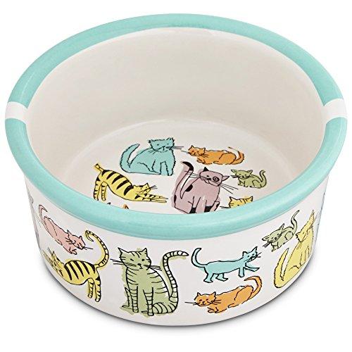 Harmony Cat Town Ceramic Cat Bowl, 3