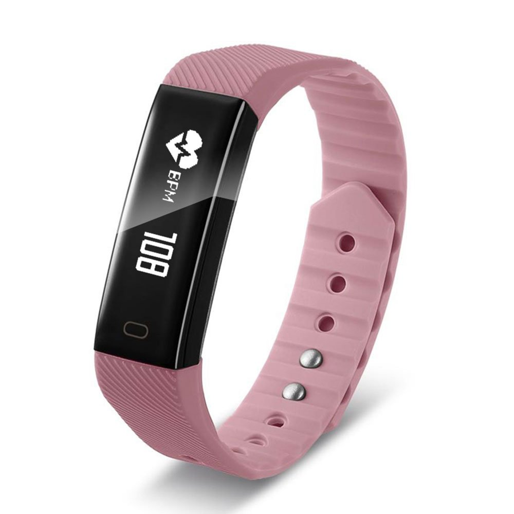 Auntwhale F1 Colorful 0.87'' OLED Screen Smart Bracelet With Continuous Heart Rate Monitoring & Sleep Monitoring & Step Counter Blue-tooth 4.0 Sports Bracelet