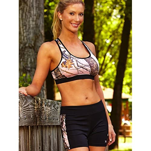 WILDERNESS DREAMS Mossy Oak Pink Break-Up Active Wear Shorts Womens