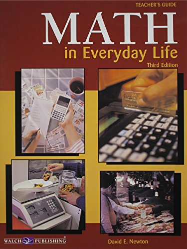 Math In Everyday Life: Teacher Guide (Math in Everyday Life SER)