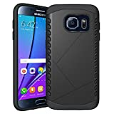 Galaxy S7 Edge Case, iBeek® [Slim Fit] Rugged Hybrid Dual Layer Armor Defender Shockproof Protective Cover Case Impact Resistant Bumper with Cushioned Corner for Samsung Galaxy S7 Edge (2016) (Black)