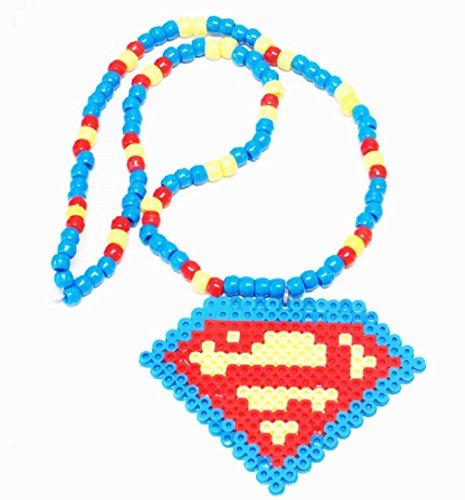 Kandi Gear - Superman Kandi Necklace Edc, Ultra