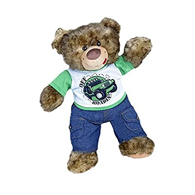 "Off Roading Outfit w/Cargo Jeans Outfit Teddy Bear Clothes Fits Most 14"" - 18"" Build-A-Bear, Vermont Teddy Bears, and Make Your Own Stuffed Animals: Toys & Games"