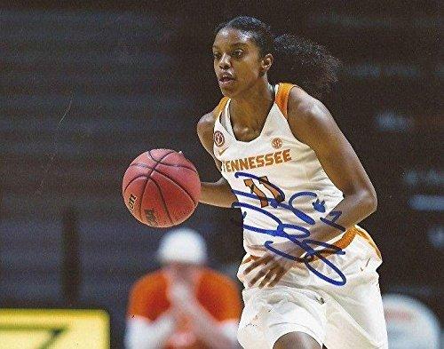 Diamond DeShields WNBA Sky signed Tennessee Lady Volunteers 8x10 photo Vols - Autographed College Photos