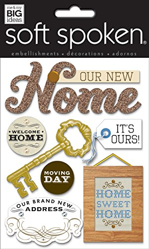 Home Scrapbooking - me & my BIG ideas Soft Spoken Themed Embellishments, New Home