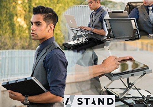 A-STAND lap easel - desk - case - mobile digital workstation BLACK