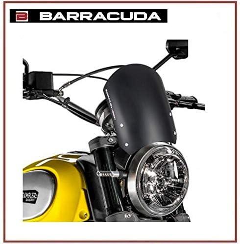 CUPOLINO AEROSPORT ALLUMINIO NERO BARRACUDA MOTO DUCATI SCRAMBLER 2015-2018