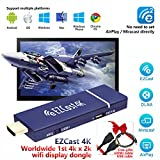 EZCast 4K Worldwide 1st 4Kx2K WiFi Display Dongle 2.4G/5G HDMI Media Streaming Stick Support MiraCast AirPlay DLNA