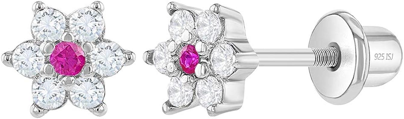Details about  /ICYROSE Sterling Silver Flowers Kids Girls Stud Earrings 3372