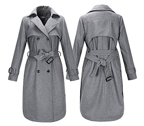 Young Fit Slim Trench Boutonnage Femme Styles Printemps Parker Double El Automne xwAqI8y