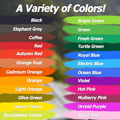 Trovino Real Brush Pens, 24 Paint Markers with Flexible Brush Tips + Bonus Water Brush, Professional Watercolor Pens for Painting, Drawing, Coloring & More, 100% Nontoxic, 24 Vivid Colors Photo #7