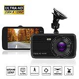 4.0' Screen Full HD 1296P60 170 Wide Angle Dashboard Camera, Car DVR Vehicle Dash Cam with G-Sensor, WDR, Loop Recording,32G TF card, black