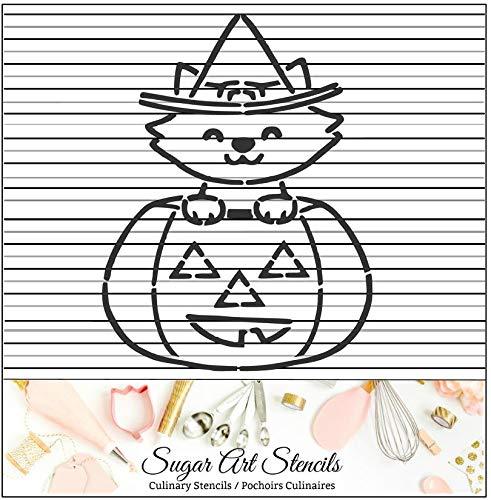 Halloween pumpkin cat PYO cookie stencil paint your own -