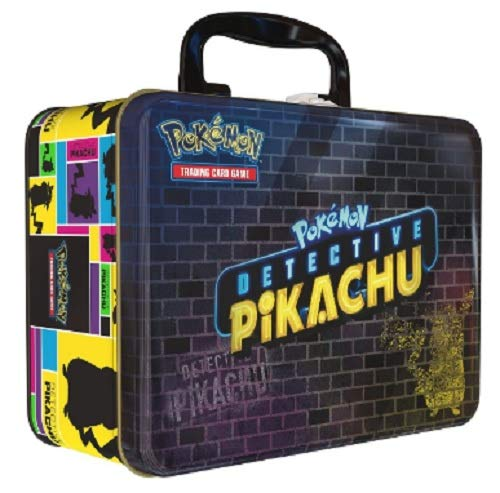 Pokemon Collector's Detective Pikachu Booster 9 Packs Lunch Box Chest Tin