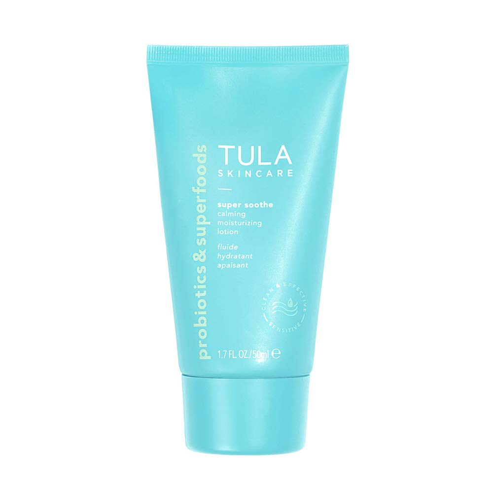 TULA Probiotic Skin Care Super Soothe Calming Moisturizing Lotion | Calming, Hydrating, Non-Irritating for Sensitive Skin with Colloidal Oatmeal, Cucumber & Ginger | 1.7 fl. oz. by TULA