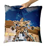 Westlake Art - Gundam Architecture - Decorative Throw Pillow Cushion - Picture Photography Artwork Home Decor Living Room - 18x18 Inch (917F1)