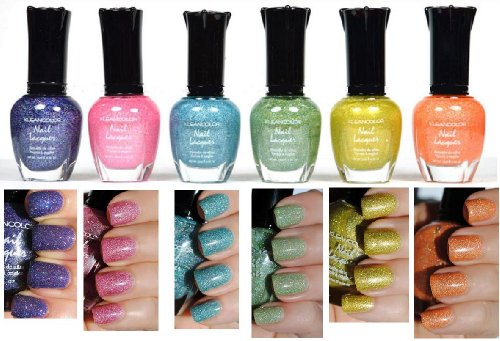 Kleancolor ongles HOLO SET! Lot de 6 laque