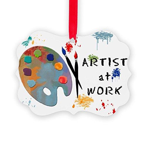 CafePress Artist At Work Christmas Ornament, Decorative Tree Ornament