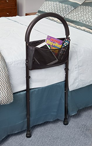 AdirMed Height Adjustable Bed Rail - Bed Assist Handle- with Storage Pouch - Home Bed Assist