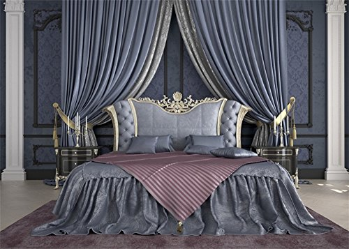 Leowefowa 7X5FT European Bedroom Backdrop Interior Curtain Backdrops for Photography Shabby Carpet Damask Wallpaper Indoor Vinyl Photo Background Girls Lover Studio Props ()