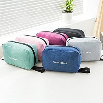 fc8e1b2a6df4 Amazon.com   Toiletry Cosmetic Makeup Travel Bag Kit With Strong Hanging  Hook - Essential Storage Organizer for Men and Women (Mint Green)   Beauty