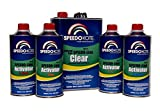SpeedoKote SMR-130/85 - Automotive Clear Coat Fast Dry 2K Urethane, 4:1 Gallon Clearcoat Kit with Slow Activator