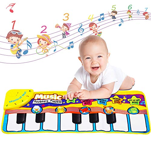 Kaseberry Baby Musical Piano Mat, Early Education Toys Music Mat for Kids, Musical Blanket Touch for Toddlers, KeyboardPlayMatGiftsforBoys/Girls,28X12