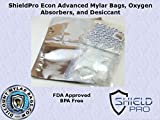 ShieldPro Econ 1 Gallon Mylar Bags, Oxygen Absorbers and Desiccant Kit for Long Term Food Storage, Dehydrated Foods, Scientific Purposes, Preparedness and Survival Wholesale (50)