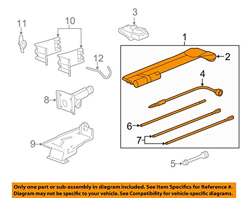 Chevrolet GMC 22969377 Spare Tire Tool Kit