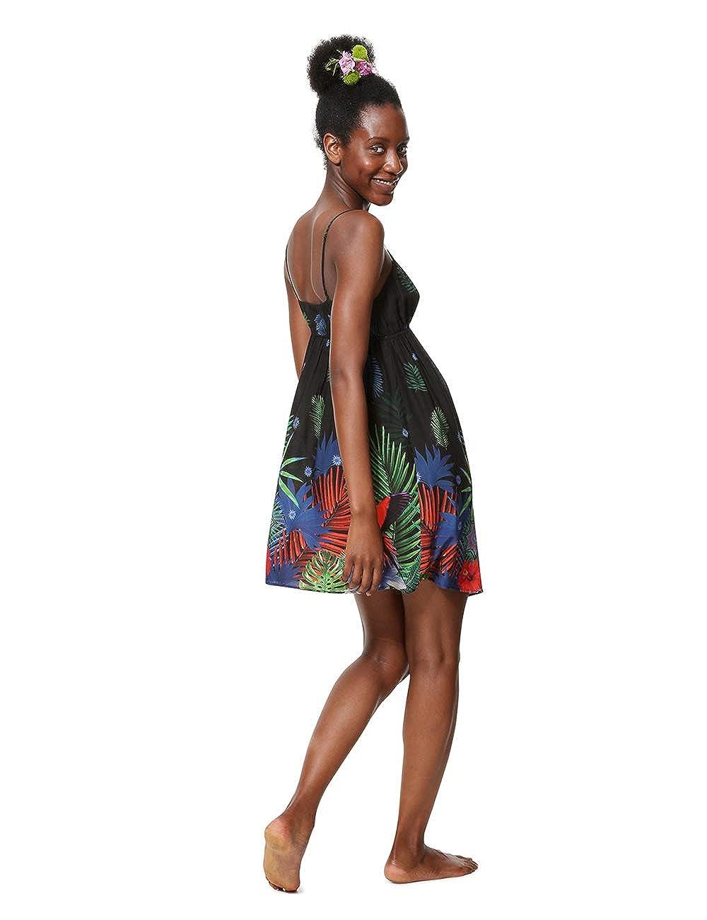 Desigual Dress Swimwear Sia Woman Black Vestito Donna
