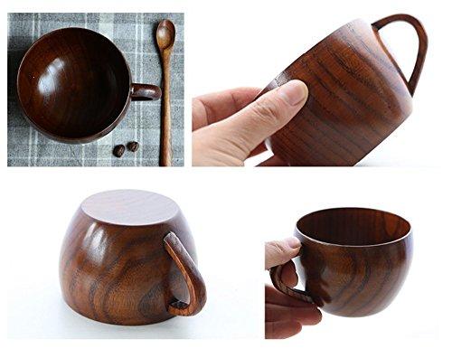 Jujube Wood Milk Tea Cups Coffee Handmade Wooden Cup with Handle 260ml Mug Cup Drinkware Tableware Water Drinking