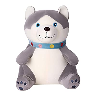 YHHX Plush Toy, Shar Pei Pillow Child Birthday Gift Plush Doll Birthday Gift Cartoon Toy Animal Plush Toy,Husky,45CM: Home & Kitchen