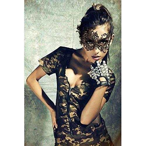 Hosaire Masquerade Mask Mujeres Lace Face Eye Phoenix M/áscara con Fingerless Gothic Guantes de Boda para la Fiesta de Disfraces de Carnaval Veneciano Negro 1