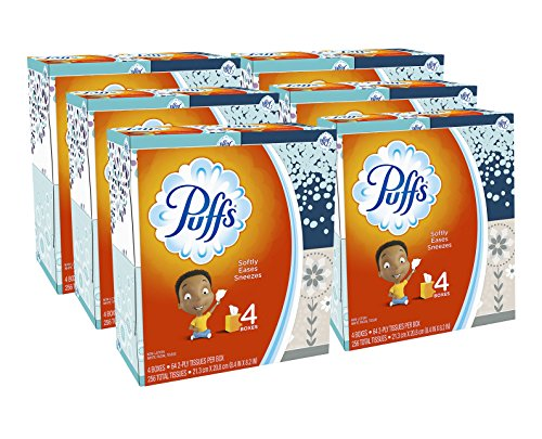 Puffs, Everyday Non-Lotion Facial Tissues, 24 Cubes, 64 Tissues per Box (Packaging may vary) by Puffs