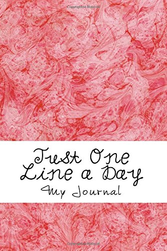 Download Just One Line a Day: Five Year Memory Journal/Red Abstract Cover Design,  366 Pages, Extra Page for Leap Year Day Memories ebook