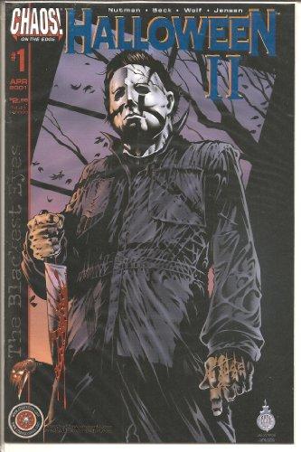 Halloween II #1 Blackest Eyes Rare Blue Foil DF Only 200 copies! COA (Halloween Michael Myers, 1) -