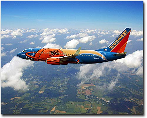 Southwest Airlines Boeing 737 'Slam Dunk One' 16x20 Silver Halide Photo Print