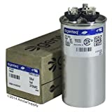 Carrier P291-5053RS - 50 + 5 uF MFD x 370 VAC Genteq Replacement Dual Capacitor Round # C3505R / 27L1051