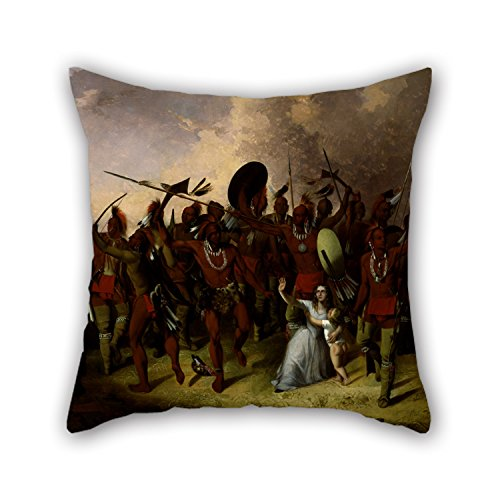 [Slimmingpiggy Oil Painting John Mix Stanley - Osage Scalp Dance Cushion Covers 18 X 18 Inches / 45 By 45 Cm For Car,father,floor,office,dining Room,kids Girls With Two] (Mix N Match Dance Costume)