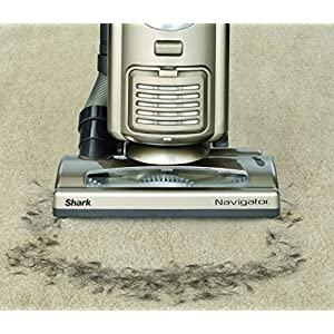 Shark Navigator Deluxe Upright Corded Bagless Vacuum for Carpet and Hard Floor with Wide Pet Upholstery Tool and Anti-Allergy Seal (NV42), Champagne